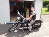 Harley Davidson volée à Morzine