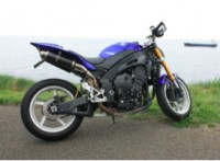Yamaha R1 décarrénée bleue
