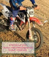 Moto de cross ktm 350